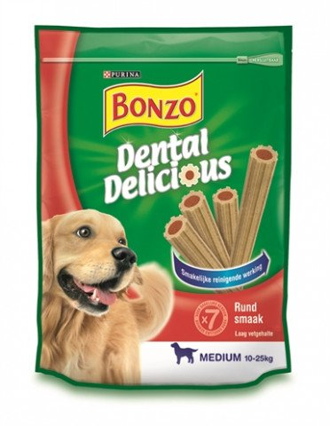 Bonzo Dental Delicious Rund Smaak 6x200 Gr
