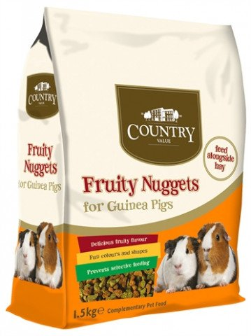 Burgess Country Value Fruity Nuggets Guinea Pig 1.5 Kg